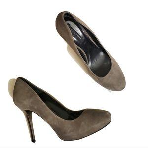 Zara Womens Causal Grey Suede Pumps •41